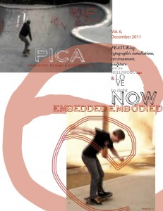 pica magazine cover of skateboard type
