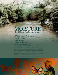 poster for Waters Ritual, photo of Oshun River in Nigeria