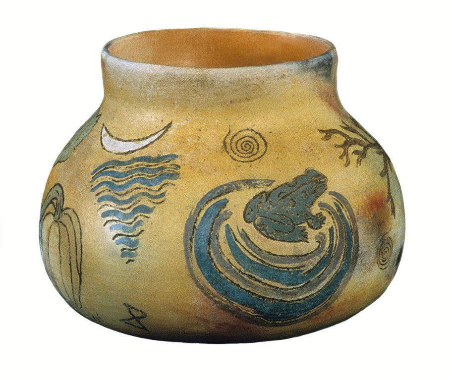 pitfired clay vessel for Oshun, © 1997