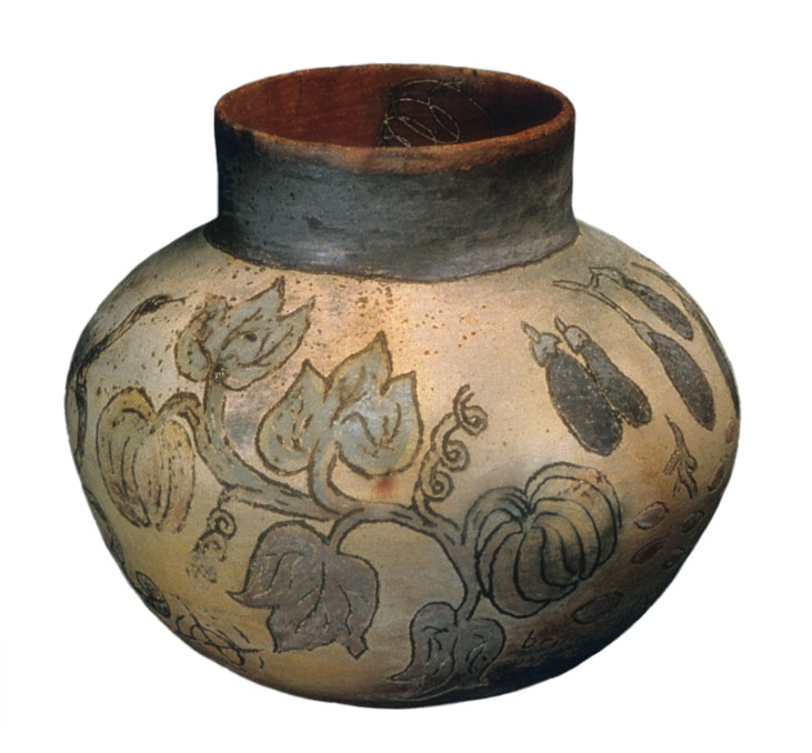 pitfired clay vessel for Oya, © 1997