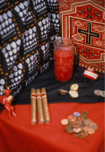 Altars for Eshu, and Egun