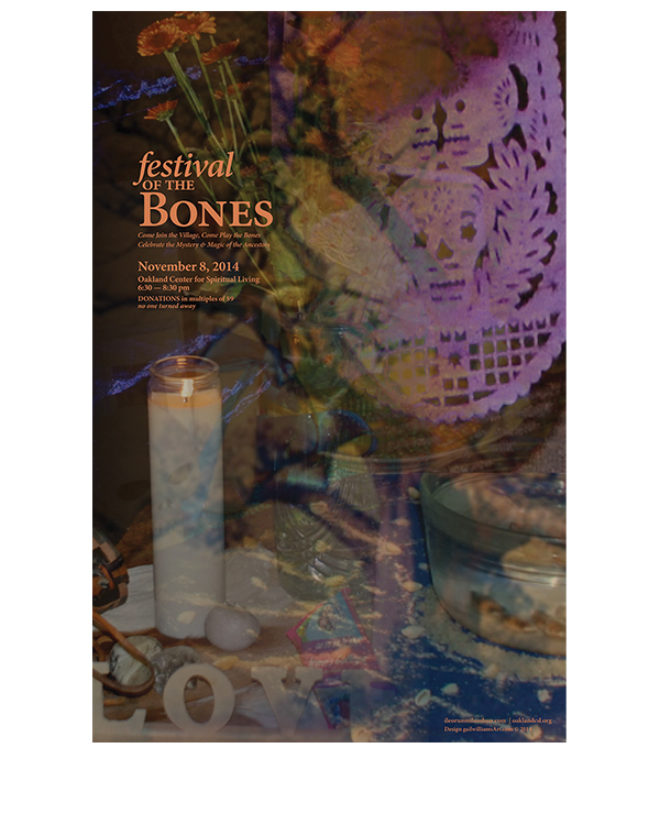 Ritual for Revered Ancestors-Festival of the Bones digital poster, © 2014