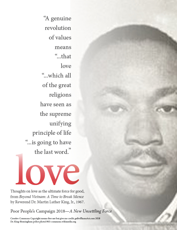 Love will have the last word, MLK Revolution of Values, digital photo collage, ©2018